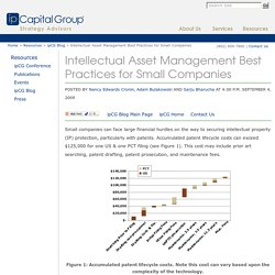 Blog - Intellectual Asset Management Best Practices for Small Companies