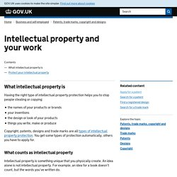 Intellectual property and your work