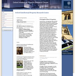 Oxford Law :: Oxford Intellectual Property Research Centre