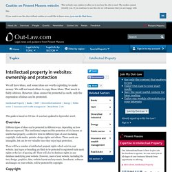 Intellectual property in websites: ownership and protection