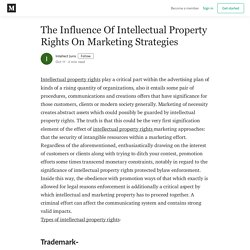 The Influence Of Intellectual Property Rights On Marketing Strategies