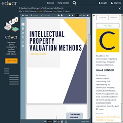 Intellectual Property Valuation Methods