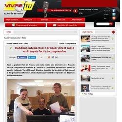 Handicap intellectuel : premier direct radio en français facile à comprendre