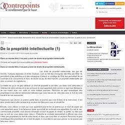De la propriété intellectuelle (1)