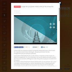 UP Magazine - L'usage de la propriété intellectuelle par les entreprises