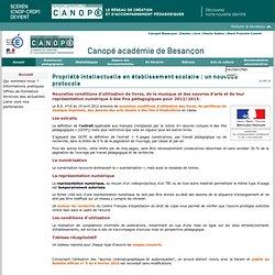 CRDP de Franche-Comté : Propriété intellectuelle en établissement scolaire : un nouveau protocole
