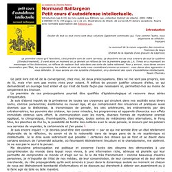 Petit cours d'autodéfense intellectuelle -Introduction, par Normand Baillargeon - Le MHM