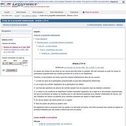 Code de la propriété intellectuelle - Article L131-4