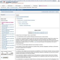 Code de la propriété intellectuelle - Article L122-5