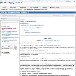 Code de la propriété intellectuelle - Article L211-3