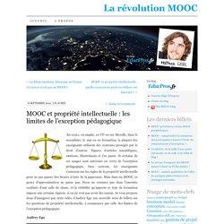 MOOC et propriété intellectuelle : les limites de l'exception pédagogique