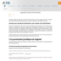 Propriété intellectuelle: La protection juridique des logiciels & bases de données