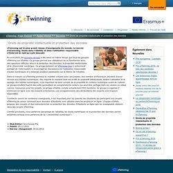 Droits de propriété intellectuelle et protection des données