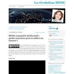 MOOC et propriété intellectuelle : quelles ressources peut-on utiliser sur Internet ?