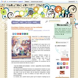 Les Tribulations d'un Petit Zèbre » Florilège d'idées reçues sur les enfants intellectuellement précoces