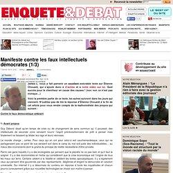 Manifeste contre les faux intellectuels démocrates (1/3)
