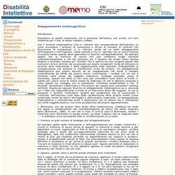 Disabilità Intellettive - Insegnamento metacognitivo