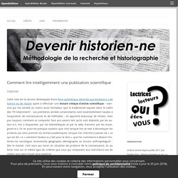 Comment lire intelligemment une publication scientifique
