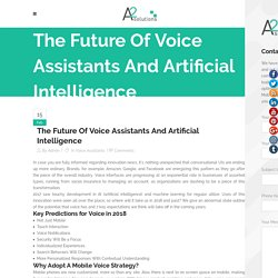 The Future Of Voice Assistants And Artificial Intelligence