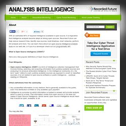 Open Source Intelligence (OSINT) Analysis Defined