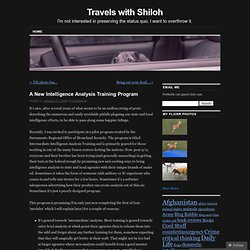 A New Intelligence Analysis Training Program | Travels with Shiloh