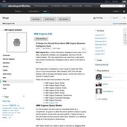 9 Things You Should Know About IBM Cognos Business Intelligence Suite - IBM Cognos 8 BI Blog - IBM Cognos Analytics