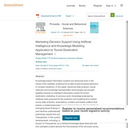 Marketing Decision Support Using Artificial Intelligence and Knowledge Modeling: Application to Tourist Destination Management