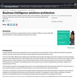 Business Intelligence solutions architecture