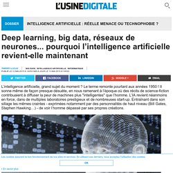 Deep learning, big data, réseaux de neurones... pourquoi l'intelligence artificielle revient-elle maintenant