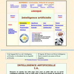 intelligence artificielle, introduction