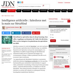 Intelligence artificielle : Salesforce met la main sur MetaMind