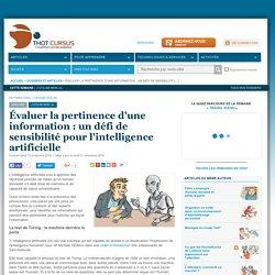 Évaluer la pertinence d'une information : un défi de sensibilité pour l'intelligence artificielle