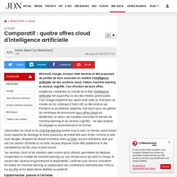 Comparatif : quatre offres cloud d'intelligence artificielle