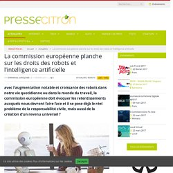La commission européenne planche sur les droits des robots et l'intelligence artificielle