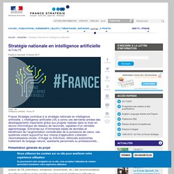 Stratégie nationale en intelligence artificielle
