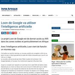 Loon de Google va utiliser l'intelligence artificielle