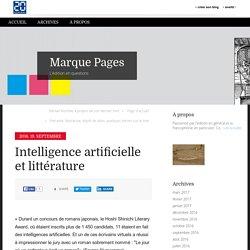 Intelligence artificielle et littérature - Marque Pages