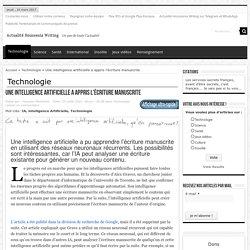 Une intelligence artificielle a appris l'écriture manuscrite