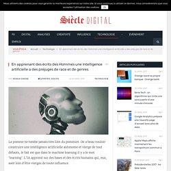En apprenant des écrits des Hommes une intelligence artificielle a des préjugés de race et de genres.