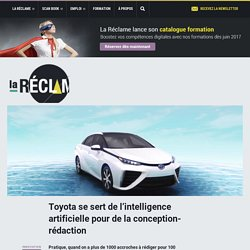 Toyota se sert de l'intelligence artificielle pour de la conception-rédaction