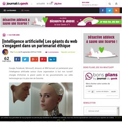 [Intelligence artificielle] Les géants du web s'engagent dans un partenariat éthique
