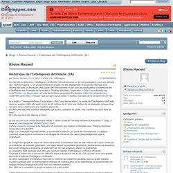 Historique de l'Intelligence Artificielle (IA) - Blogs - Forum du club des développeurs et IT Pro