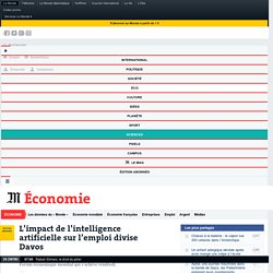 L'impact de l'intelligence artificielle sur l'emploi divise Davos_Résistance mentale