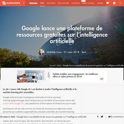 Google lance une plateforme de ressources gratuites sur l'intelligence artificielle