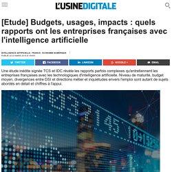 [Etude] Budgets, usages, impacts : quels rapports ont les entreprises françaises avec l'intelligence artificielle