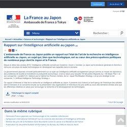 Rapport sur l'intelligence artificielle au Japon - La France au Japon