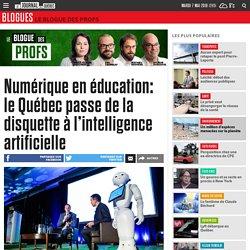 Numérique en éducation: le Québec passe de la disquette à l'intelligence artificielle