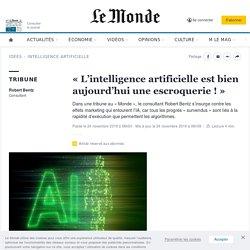 «L'intelligence artificielle est bien aujourd'hui une escroquerie!»