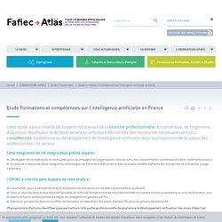 Étude Formations et compétences sur l'intelligence artificielle en France sans titre