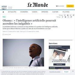 Obama : «l'intelligence artificielle pourrait accroître les inégalités»